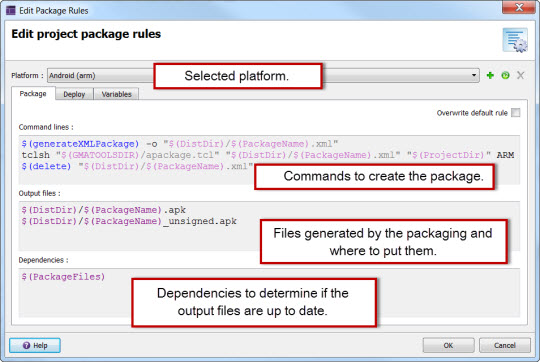 Genero Studio User Guide 3 20 - Package and deploy rules (mobile)