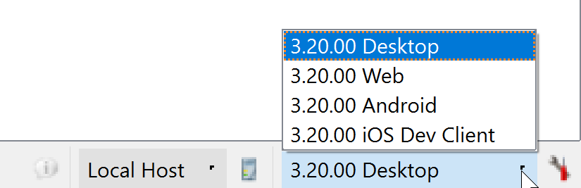 Genero Studio User Guide 3 20 - Switching Genero Clients